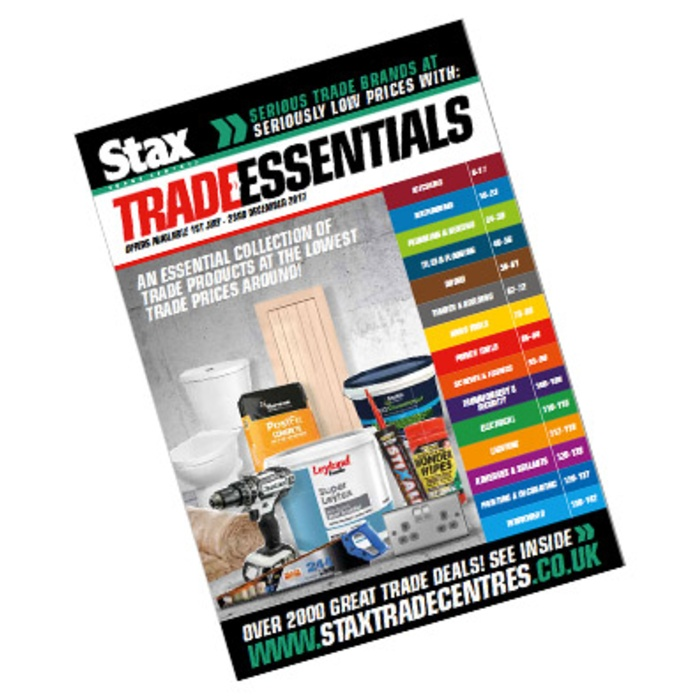 Get even more of what you need with the new Stax Trade Essentials Catalogue