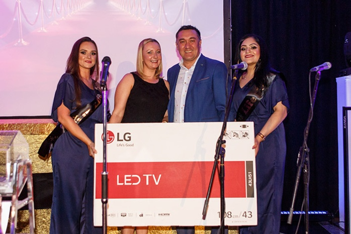 Stax donates TV prize to charity fundraising night
