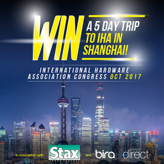 WIN a trip to the IHA Congress in Shanghai with Stax and bira