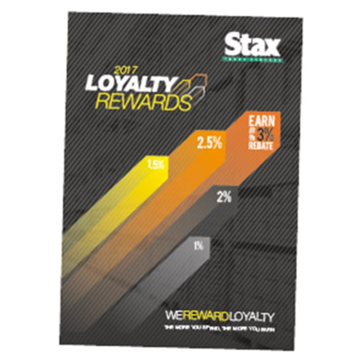 Stax Retailer Loyalty Scheme Opens for 2017
