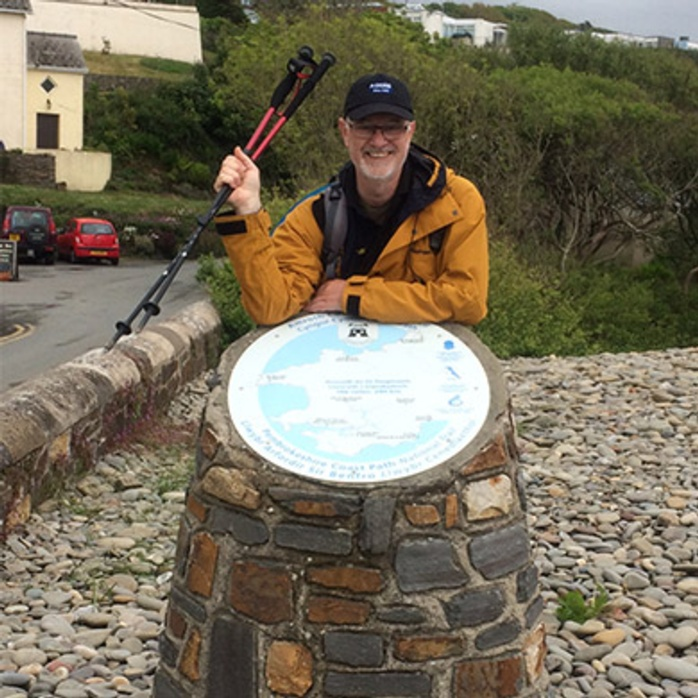 Rainy Day Trust CEO Bryan Clover completes the Pembrokeshire Coastal Path Challenge
