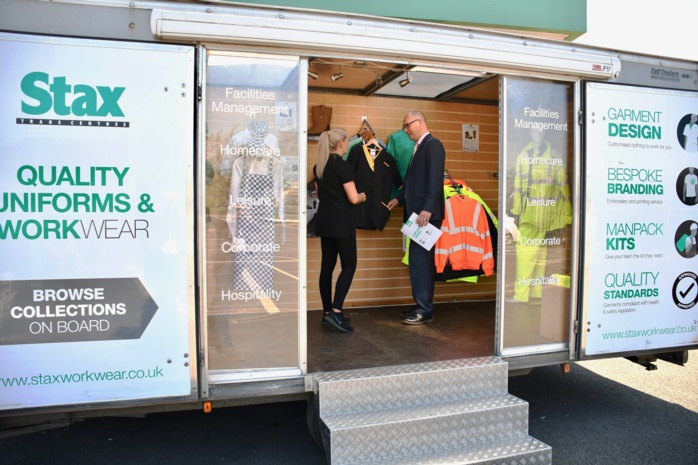 Stax takes workwear on the road with new mobile showroom