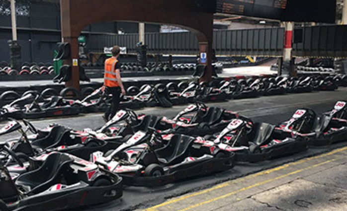Charity karting event races past the £2,500 mark for Rainy Day Trust